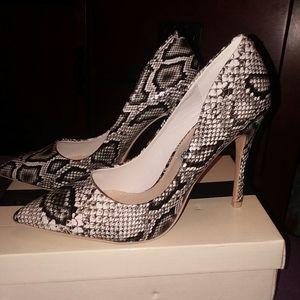 Shoes - Women's snake print heels